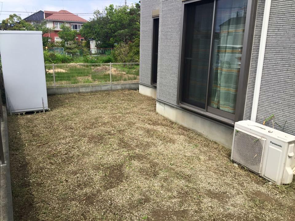 一般家庭のお庭の草刈り・除草