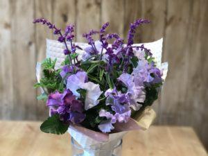 パンジーブルー系春の花
